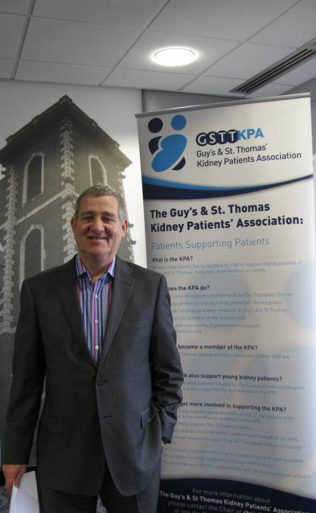 Trevor Cook Chairman Guy'sand St Thomas' Kidney Patients Association