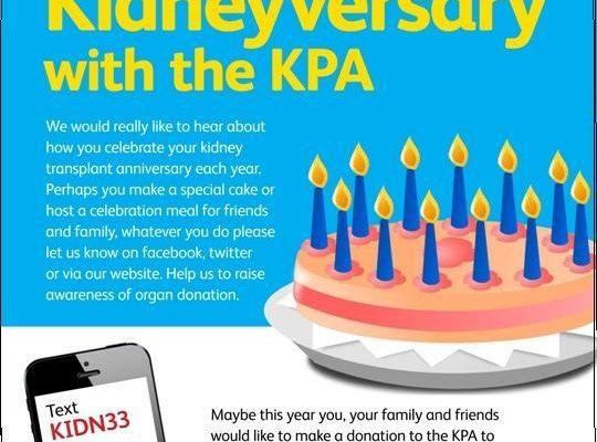 Kidney Transplant Anniversaries